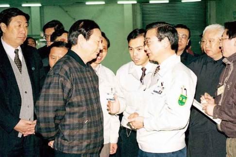 国务院总理朱镕基视察公司