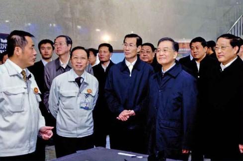 国务院总理温家宝视察公司